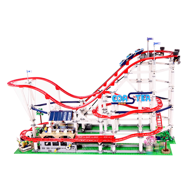 1125 Roller Coaster Compatible With 10261 15039 Set Buidling Blocks Bricks Educational Toys As Birthday Gifts
