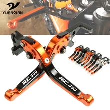 FOR KTM RC 390 RC390 2014-2019 Motorcycle Accessories CNC Aluminum Adjustable Foldable Extendable Motorbike Brakes Clutch Levers cnc aluminum motorbike motorcycle brake clutch levers foldable extendable for ktm rc8 rc8r rc 8 rc 8r rc 8 8r 2009 2016