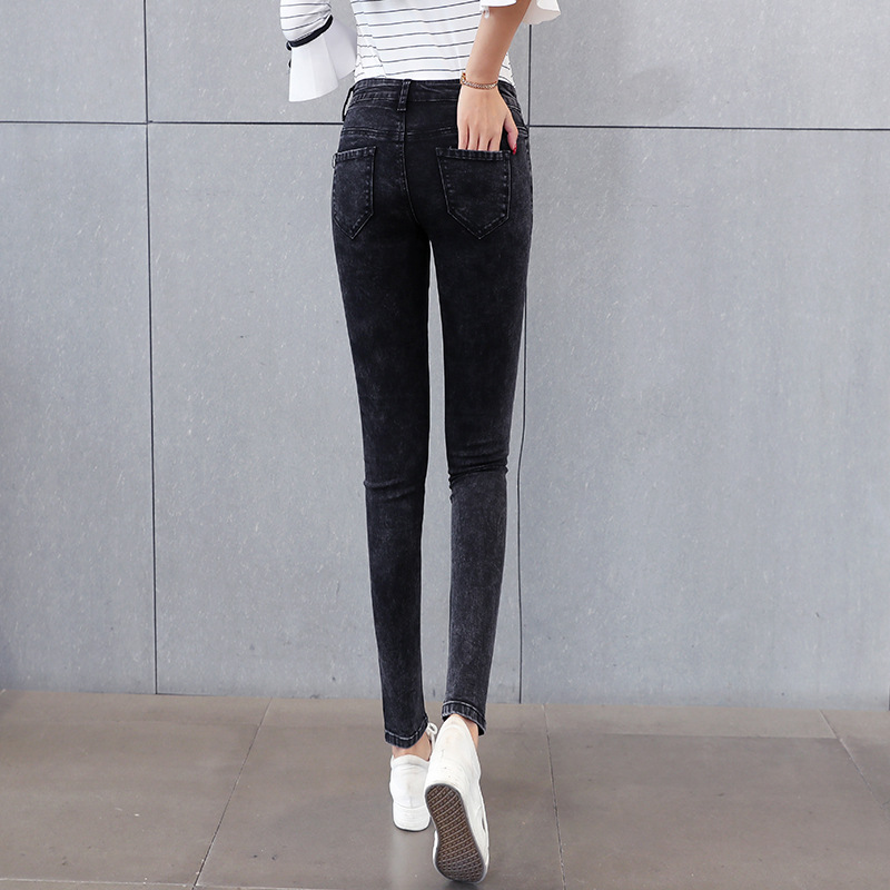 Ray Dtun Jeans For Women Jeans High Waist Jeans Woman High Elastic Stretch Jeans Female Washed Denim Skinny Pencil Pants