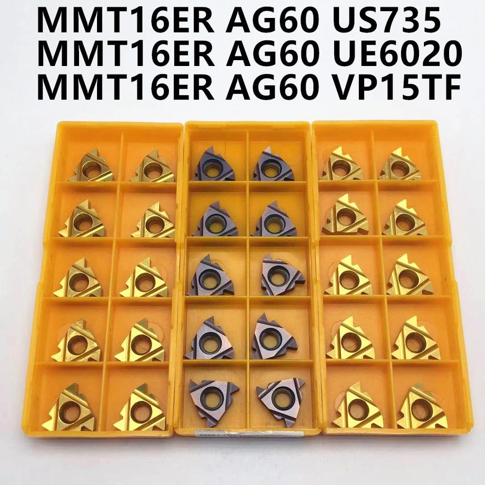16ER AG60 16IR AG60 VP15TF UE6020 US735 Thread Turning Tool Carbide Insert CNC Milling Cutter Slotting Cutter 16ER 16IR