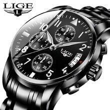 Relogio Masculino LIGE Mens Watches Top Brand Luxury Fashion Business Quartz Wat