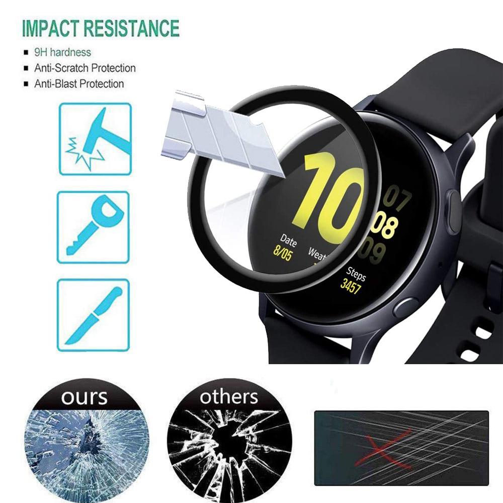40 мм 44 мм Защитная пленка для экрана для Samsung Galaxy Watch Active 2 Водонепроницаемая 3D пленка для полного покрытия Аксессуары для смарт-часов