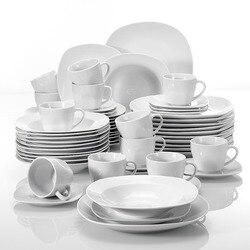 Серия MALACASA, фарфоровый набор посуды Elisa из 60 предметов, чашки, блюдца, столовый суп, десертные тарелки, набор для 12 человек