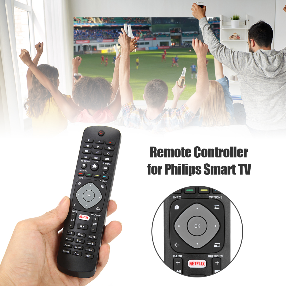 Household Remote Control Bedroom Television Ornaments for TV with NETFLIX PHILIPS Smart APP HOF16H303GPD24 398GR08B image