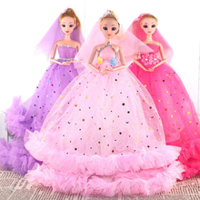 Princess Doll Clothes Handmake Wedding Dress Fashion Evening Party Outfit For Barbie Doll Accessories FR Doll Toys handmade pure white wedding gown with sequin copy pearl beads gorgeous dress limited edition clothes for barbie doll kurhn fr