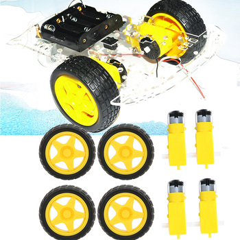Motor Plastic Car Tire Wheel Motor Fastening Kit Replacement Parts Accessories For Intelligent Car 8010 diy replacement plastic wheel tire for 1 10 model car toy off white black 4 pcs