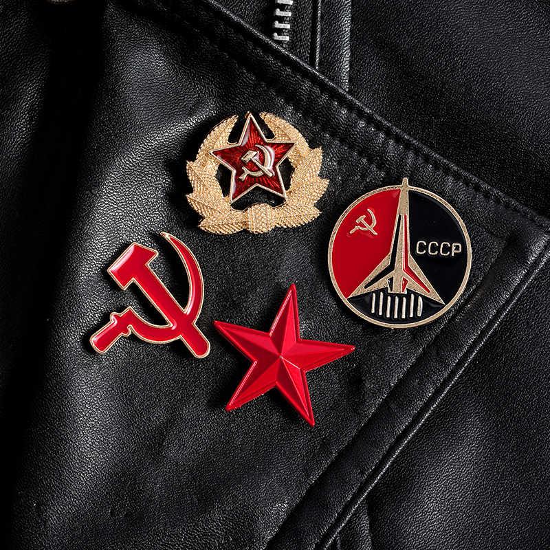 Pro Kitty Enamel Pin Kustom Perang Dingin Lencana Uni Soviet Bros untuk Tas Kerah Pin Gesper Vintage Perhiasan Hadiah untuk Para Penggemar Militer teman