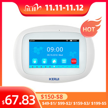 KERUI K52 System alarmowy wi fi GSM 4.3 Cal kolorowy ekran dotykowy inteligentny komunikat głosowy bezpieczeństwo w domu bezprzewodowy System alarmowy Buglar