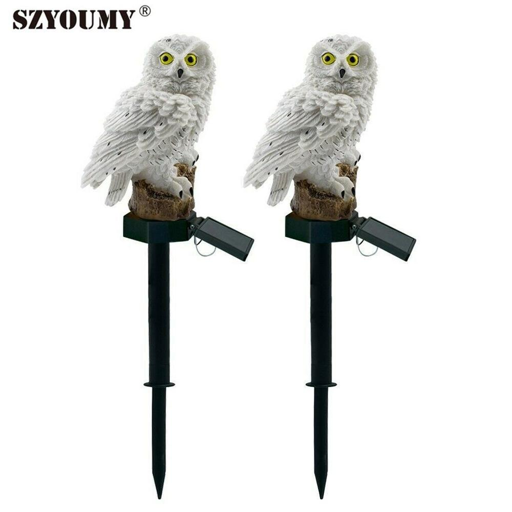 SZYOUMY Owl Solar Light With Solar Led Panel Fake Owl Waterproof Outdoor Decoration Solar Led Lawn  Garden Lamp