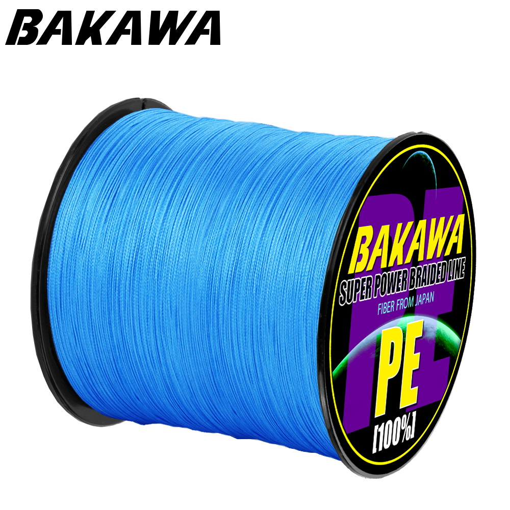 BAKAWA 8 Strands 1000M 500M 300M YEMIHT PE Multicolor Braided Fishing Line 4 Weave Superior Extreme Strong 100% SuperPower