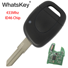 WhatsKey 1 Buttons Car Remote Key Fit For Renault Master Clio Twingo Kangoo NE73 blade 433Mhz ID46 PCF7946 Chip free shipping 1 button remote key case for renault kangoo with battery clip ne73 blade 10piece lot