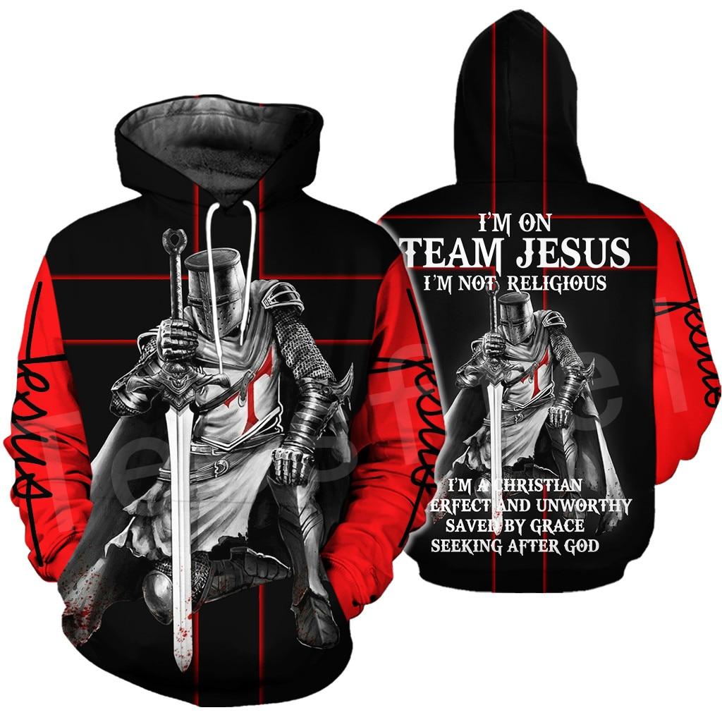 Tessffel Knights Templar Armor Pullover Streetwear Harajuku Pullover 3DfullPrint Zipper/Hoodie/Sweatshirt/Jacket/Mens Womens S13