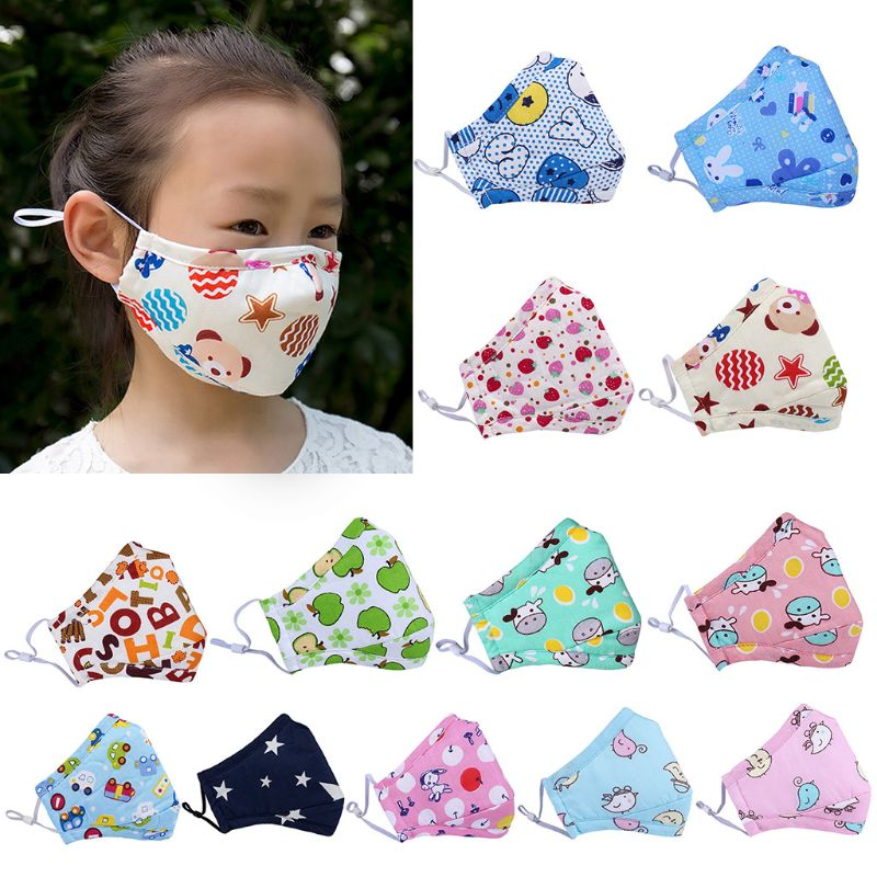 Autumn Winter Pm2.5 Anti-fog Activated Carbon Mask Baby Cartoon Cotton Masks