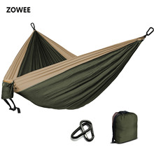 Camping Parachute Hammock Survival Garden Outdoor Furniture Leisure Sleeping Hamaca Travel Double 300*200cm