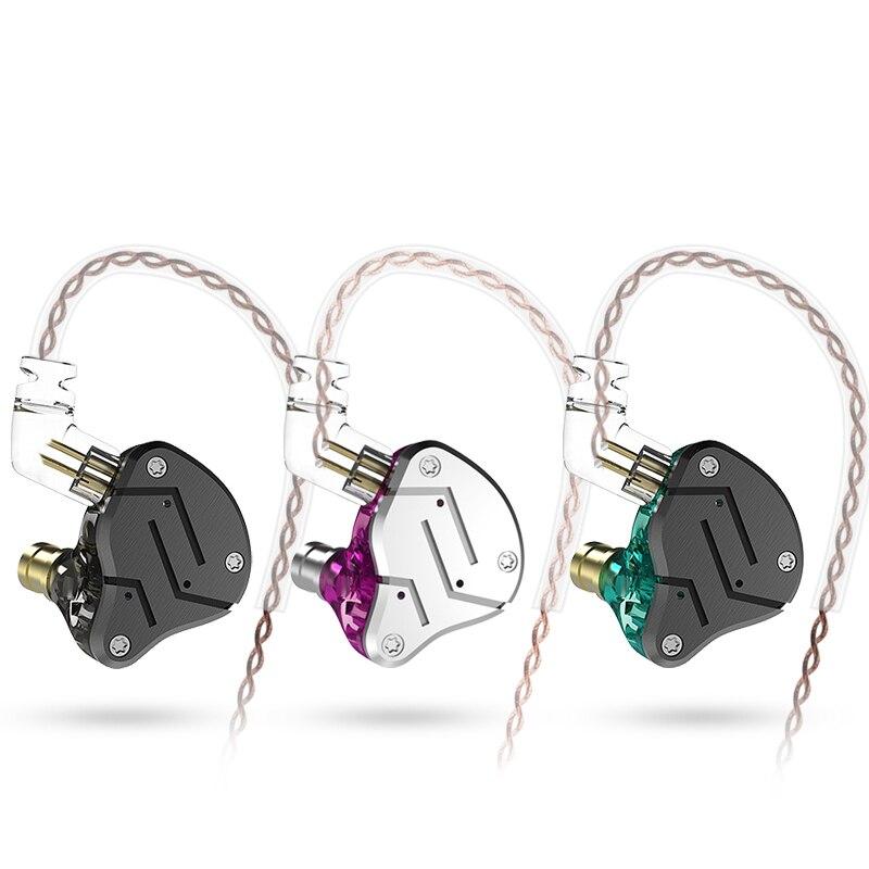 KZ ZSN 1BA 1DD Hybrid Driver HIFI In Ear Earphone DJ Monito Running Headset Earbuds KZ ZSX ZS10 PRO ZSN PRO ZST X ZSN S1 S2 Z1