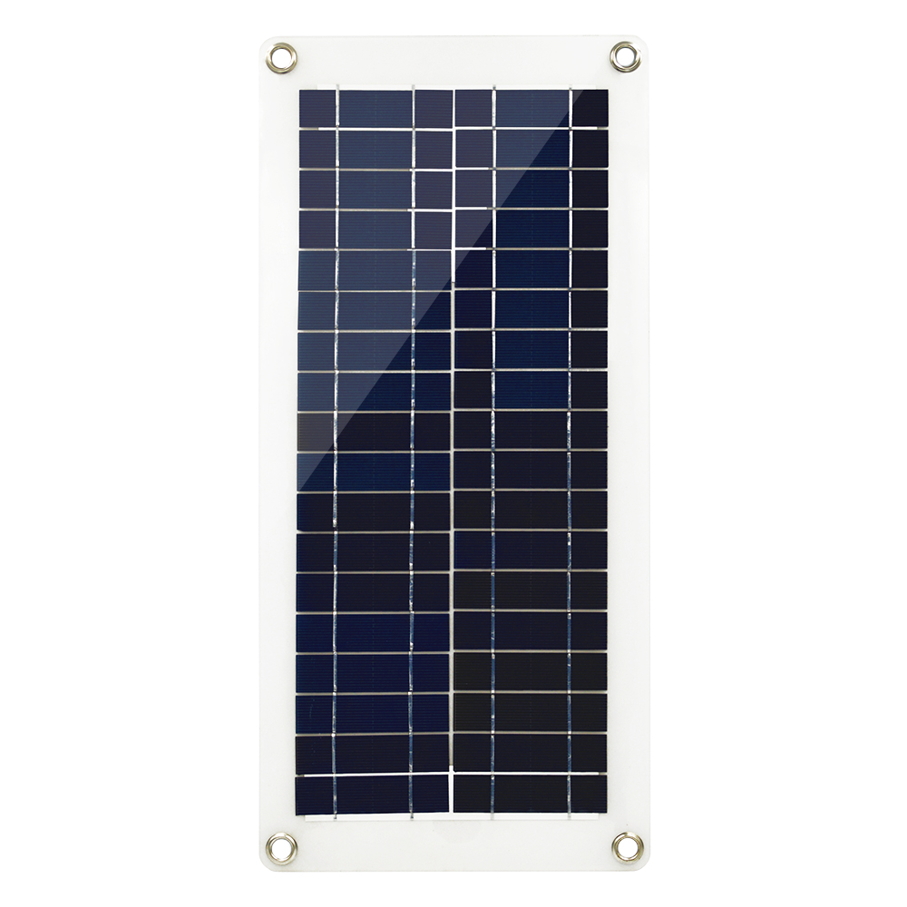 20W Solar Panel Charger Semi-flexible Solar Panel 18V DC Output Solar panel Cell for 12V Boat Yacht Car Battery image