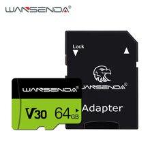 Alta qualidade wansenda tf cartão 8gb 16gb 32gb 64gb 128gb cartão de memória mini cartão para smartphone tablet câmera livre sd-adaptador
