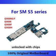 สำหรับSamsung Galaxy S5เมนบอร์ดG900M/F,G900I,G900F,g900Hเมนบอร์ดAndroid OSติดตั้งทดสอบฟังก์ชั่นเต็มรูปแบบ