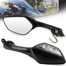 Мотоциклетный широкоугольный светодиодный указатель поворота для зеркала заднего вида для Kawasaki ZX-10 ZX10 2011 2012 2013 2014 2015 Ninja H2 2014-2015