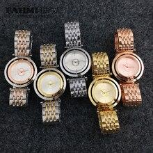 FAHMI Alloy Fashion Business Exquisite Men and Women Couple Quartz Watch Rose Go