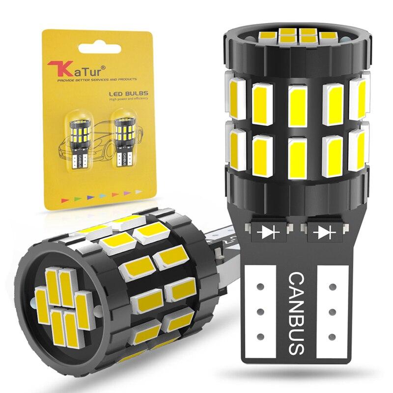 2 uds W5W T10 LED Canbus bombillas libre de Error del tronco lámpara 12V blanco, azul, rojo, Color naranja de distancia de seguridad para coche de estacionamiento de las luces de lectura