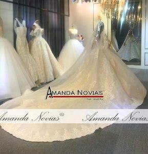 Image 4 - Amanda Novias design echt arbeit hochzeit kleid 2020 dubai luxus braut kleid hochzeit kleid 100% echt arbeit fotos