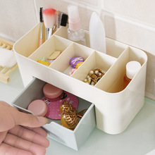 Plastic Storage Box Makeup Organizer Case Drawers Cosmetic Display Office Sundries Make Up Container Boxes