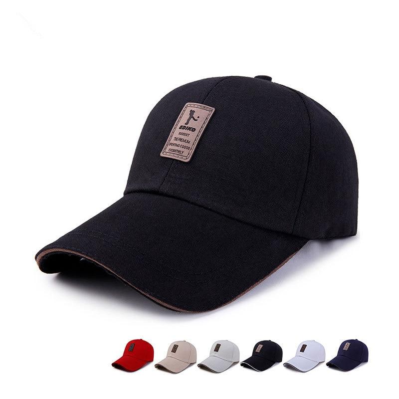2019 New Spring Simple Long Eaves Baseball Cap Men's Women Sun Visor Caps Leisure Sun Hat Summer 100%cotton Golf Hats