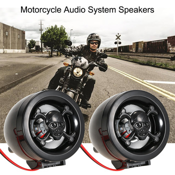 New Motorcycle Audio System Speakers Handlebar Audio System FM Radio Motorcycle FM Audio MP3 Speaker Audio System Accessories