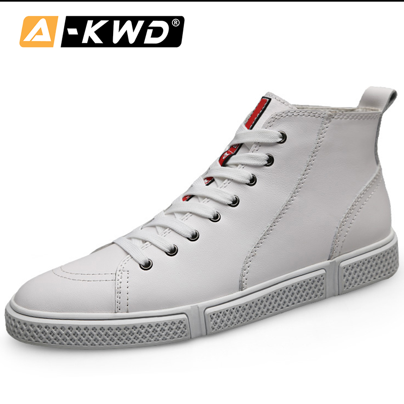 2019 Fashion Sneakers Brand Men High Top Single Mens Sports Shoes Black White Hip Hop Shoes Fur Man Shoes Leather Genuine 38-47