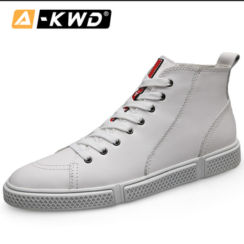 2019 Fashion Sneakers Brand Men High Top Single Mens Sports Shoes Black White Hip Hop Shoes Fur Man Shoes Leather Genuine 38-47