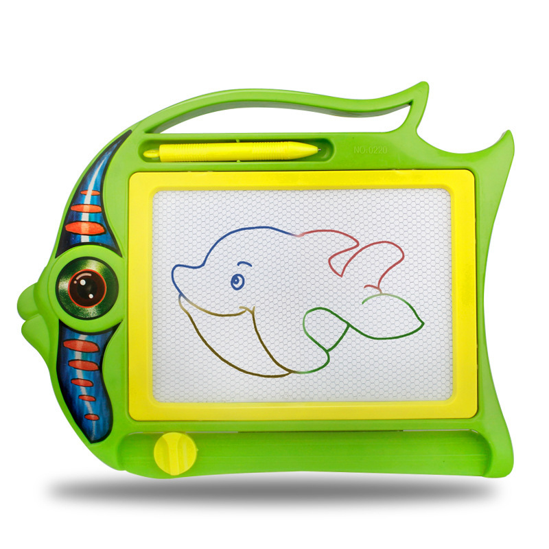 Parent And Child Game Big Fish Color Sketchpad Magnetic Drawing Board Doodle Board Children'S Educational Early Childhood Toy