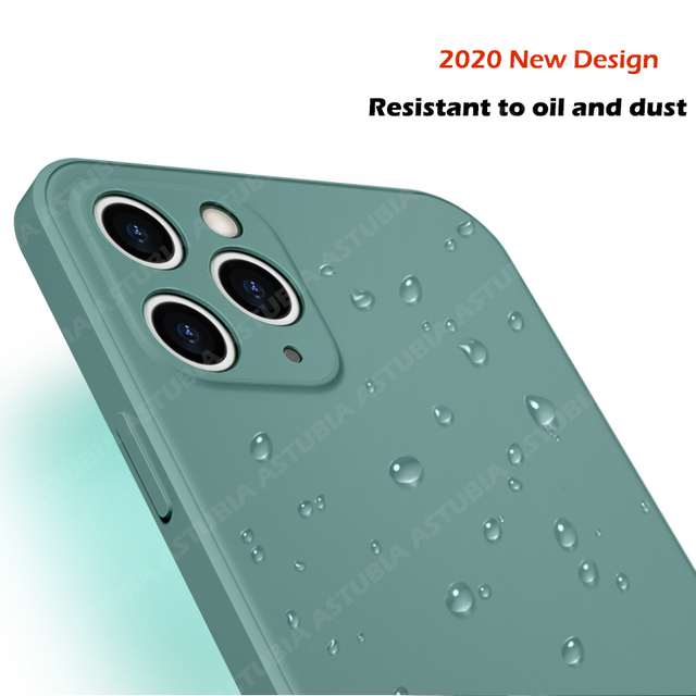 2020 New Luxury Liquid Silicone Case For iPhone 11 Pro Max 12  protector Case For iPhone X XS MAX XR 7 8 6 6S PLUS SE 2020 Cover 2
