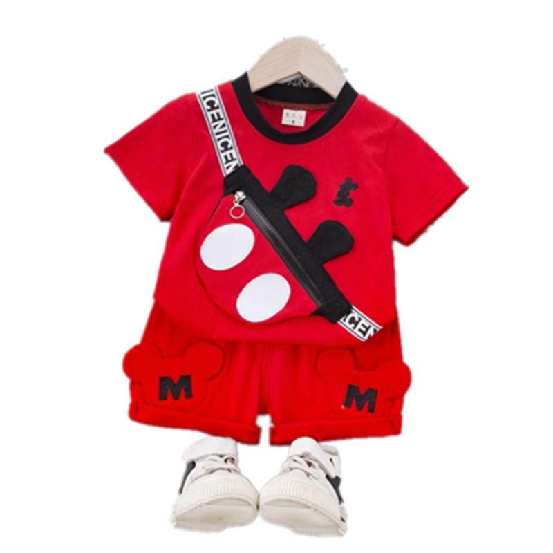 novo verao criancas do bebe meninos meninas roupas de algodao esporte com saco t camisa calcas