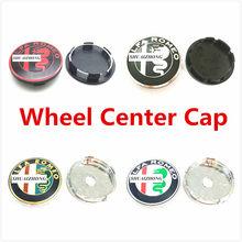 4 шт. 50 мм 56 мм 60 Alfa Romeo центра колеса Колпаки Ступицы логотип диски пыленепроницаемый значок для крышки эмблема автомобиля Средства для укла...
