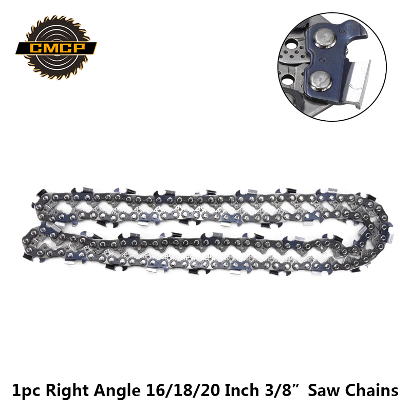 1pc 16/18/20'' Inches Chainsaw Chain 3/8'' LP 063'' Gauge 64/68/72 Drive Links Right Angle Chainsaw Blade Fit For Saw Chains