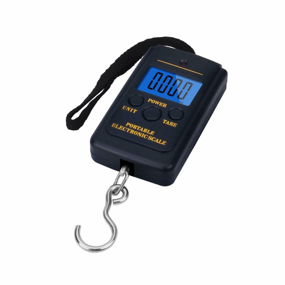 40kg/5g LCD Travel Steelyard Hanging Hook Mini Digital Electronic Luggage Scale Scale Kitchen Weight Balance Tool