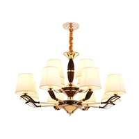 American Living Room Iron Grinding Glass Chandelier Modern Simple Dining Room Hotel Villa Bedroom Chandelier