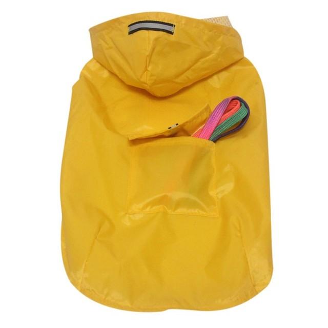 Pet's Hoodies Raincoat with Reflective Stripes Pet Outdoor Rain Jacket Poncho For Medium / Large Dog 5