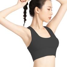 Nylon Sports Underwear Women Summer High Strength Shock Absorption Breathable Top Sexy Running Fitness Bra Yoga Vest Mujer