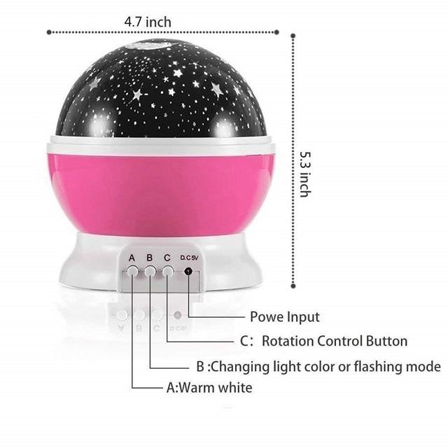 Romantic Starry Sky Led Night Light Projector Battery Usb Night Light Novelty Luminous Toys Creative Birthday Toys For Children 5