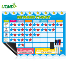 Magnetic Calendar Star Reward Chart Responsibility Chore Planner Good Behavior Development Educational Toy for Kids School