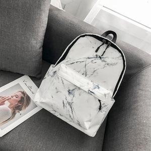 Image 5 - Women Backpack Fashion Marble Stone Print School Bag Teenager Canvas Rucksack Girls School Student Casual Travel Shoulder Bag