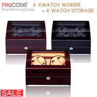 Watch Winder for automatic watches New Version 4+6 Wooden Watch Accessories Box Watches Storage Luxury