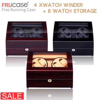 Watch Winder for automatic watches New Version 4+6 Wooden Watch Accessories Box  Watches Storage  Luxury - DISCOUNT ITEM  20% OFF All Category