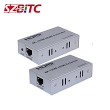 SZBITC HDMI Extender 120M 4K2K Over CAT5e CAT6 RJ45 Ethernet LAN Network Cable Extension Splitter Transmitter Receiver hdmi extender transmitter tx rx adapter 30m hdmi network extender rj45 cat5e cat6 ethernet lan without hdcp