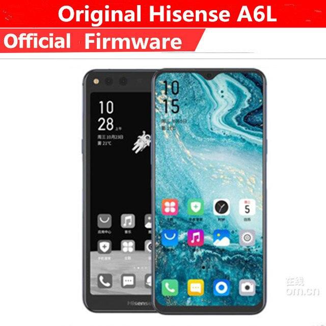 "Snapdragon 660 Android 9.0 Original Smartphone Hisense A6L Cell Phone 6.63"" AMOLED+5.84"" Ink Smart Phones IMX386 Original Phone"