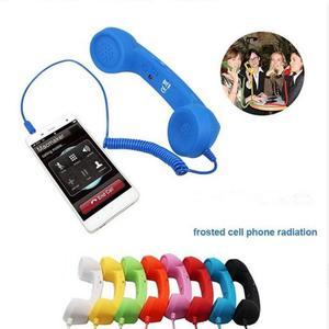 9 видов цветов классические ретро 3,5 мм jack комфорт телефонная трубка милый мини-микрофон динамик телефонный звонок приемник для iPhone, для Samsung