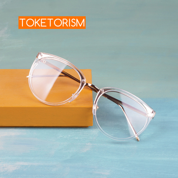 Toketorism fashion womens transparent glasses vintage optical frames prescription eyeglasses