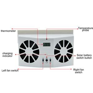 Image 2 - Car Solar Powered Exhaust Fan Auto Ventilation Fan Eco friendly Dual Mode Power Supply High Power Car Gills Cooler Portable